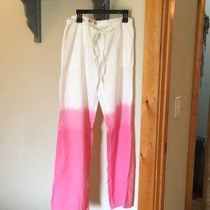 Pink ombré swimsuit cover up pants
